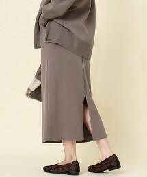 【可成套・防靜電產生】美麗諾羅紋針織窄裙#