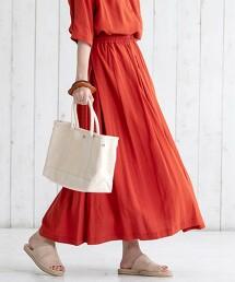 【可成套】鬆緊腰帶彩色長裙