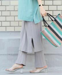 緊身褲層次羅紋裙(羅紋褲/接結/裙子)
