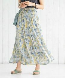 圓點&花朵 多臂織 A字長裙
