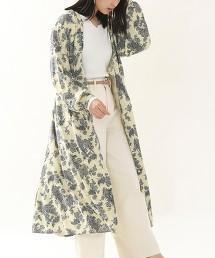 復古植物印花 洋裝
