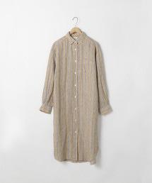 法國亞麻襯衫式洋裝