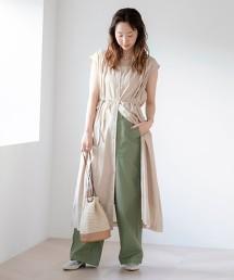 印度棉V領 短袖 洋裝#