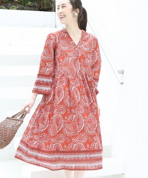 【Market】佩斯利印花洋裝