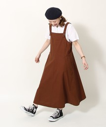 綿麻吊帶裙