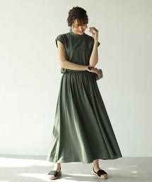 彈性天竺棉高領洋裝
