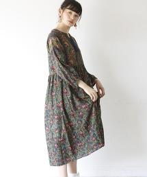 【Market】綾織花紋連身裙