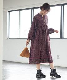 【Market】摩洛哥印花洋裝