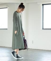 USA美國棉 凹紋 A字形 長洋裝