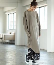 【1M】垂墜鬆餅格長版洋裝
