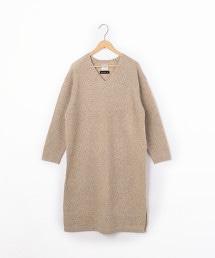 【可手洗・衣長100cm】小羔羊V領洋裝