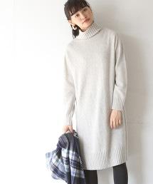 【可手洗】羊毛尼龍高領針織洋裝