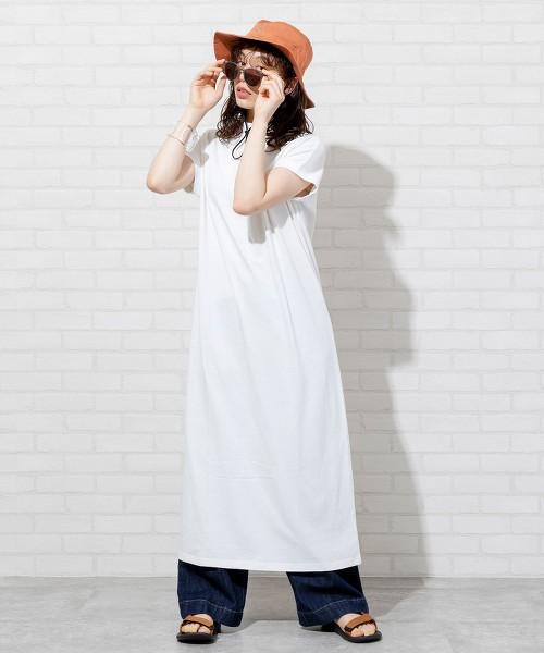 USA美國棉高領長版連身裙#