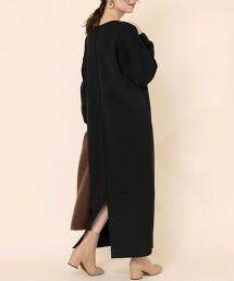 【防靜電產生】美麗諾羅紋長版連身裙#