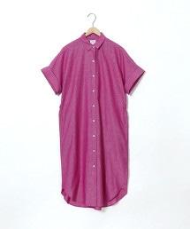 棉麻襯衫式洋裝