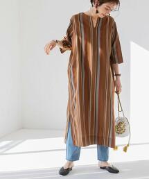 Market 直條紋 庫爾塔 洋裝