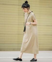回購T・機能 USA美國棉 高領洋裝#