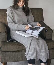毛氈 車縫 針織洋裝