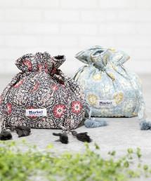 Market 莫代爾花朵束口小包※因吊牌產地表示有誤,此商品實際的產地為印度製造