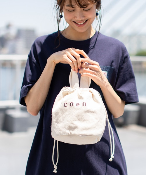 coen 2WAY LOGO束口小包