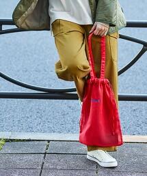 透明直條紋 2WAY 束口袋×托特肩背包