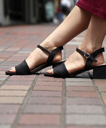 高跟綁帶涼鞋#
