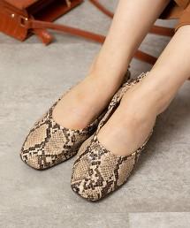 方頭鞋 抓皺 平底鞋(懶人鞋/平底包鞋)
