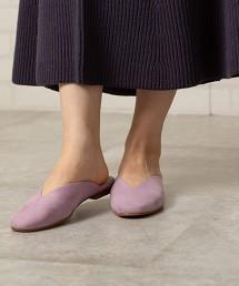 V型切割 平底涼鞋#