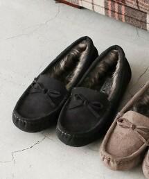 【連年熱銷】防潑水 仿毛皮 莫卡辛鞋#(平底懶人鞋)