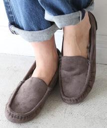 環保毛皮平底鞋(莫卡辛鞋/懶人鞋) OUTLET商品
