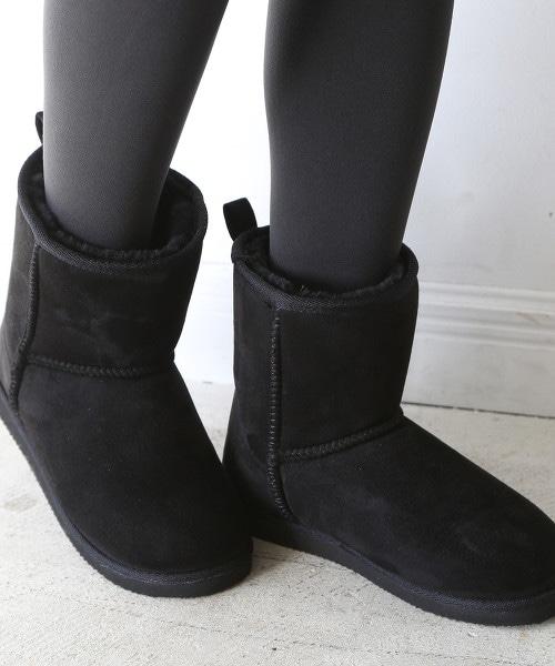 環保毛皮中筒雪靴