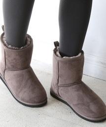 環保毛皮中筒雪靴 OUTLET商品