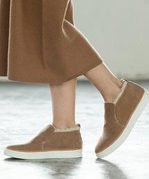 【刊載在mook雜誌】半高筒仿皮草懶人鞋