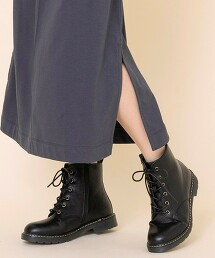 6孔 綁帶軍靴(短靴)