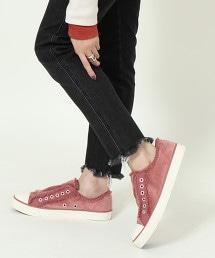 拼接天鵝絨懶人鞋(運動鞋)