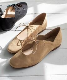 2WAY蝴蝶結綁帶 平底鞋(摩洛哥鞋/包鞋)