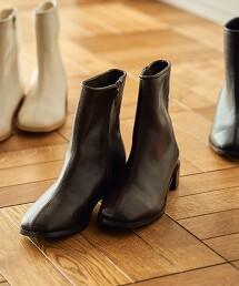 中央車縫線短靴