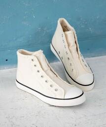 高筒 帆布 懶人鞋#