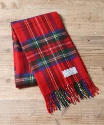 絨毛感格紋披肩(圍巾)