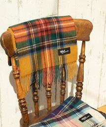 羊毛 簡約 格紋 圍巾披肩