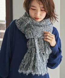 格紋編織 圍巾