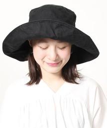 法國亞麻寬簷女仕帽