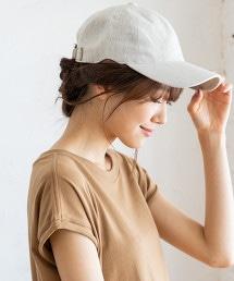 簡約亞麻鴨舌帽