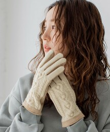 皮革×針織手套