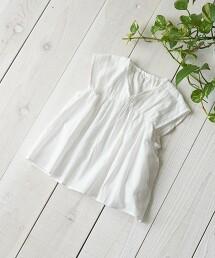 【coen KIDS/JUNIOR】刺繍拼接罩衫