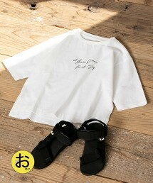 【coen KIDS/JUNIOR】印花7分袖T恤