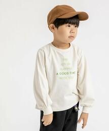 【coen KIDS】字母印花蓬袖T恤