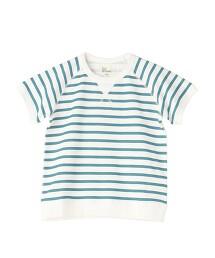 【coen KIDS/JUNIOR】微裏毛 條紋T恤