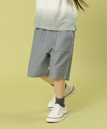 【coen KIDS/JUNIOR】剪裁斜紋工裝短褲