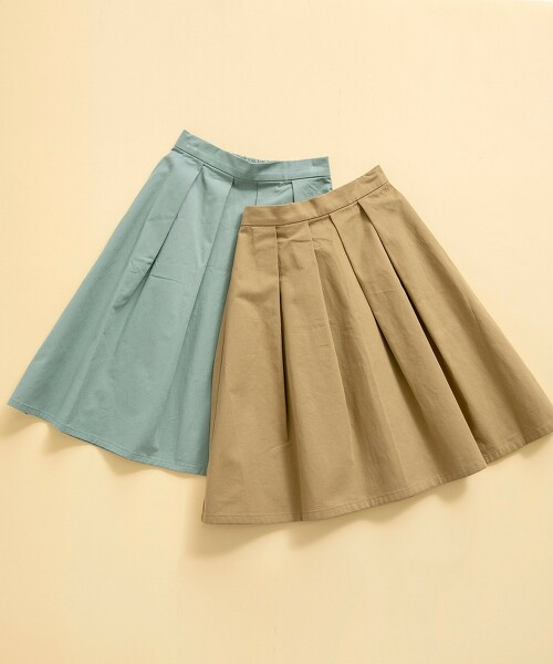 【KIDS】綾織 打摺 A字裙